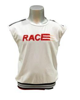 Fun&Fun camiseta Race blanca