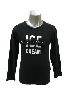 Sarabanda camiseta negra con perlas