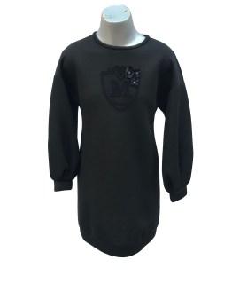 Monnalisa vestido negro neopreno