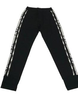 Monnalisa pantalón negro con tira de encaje