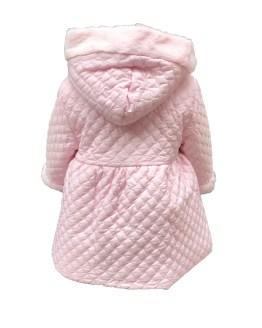 Coco Acqua abrigo acolchado rosa con pelo espalda