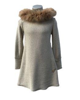 Bella Bimba colección Jadeita vestido evasé capucha