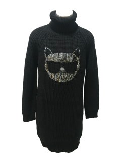 Karl Lagerfeld vestido punto gato Choupette