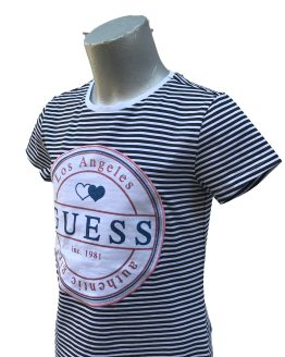 Detalle Guess camiseta chica rayas azules