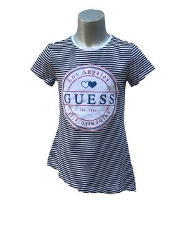 Guess camiseta chica rayas azules