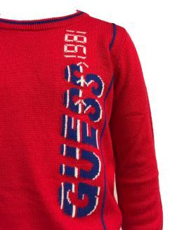 Detalle Guess Kids jersey punto rojo niño