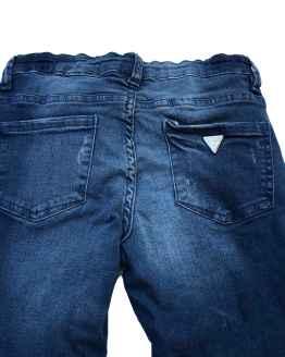 Trasera Guess pantalón vaquero rotos y tira lateral