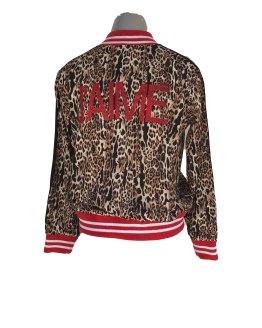 espalda Jaimè chaqueta animal print tela