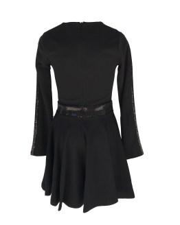 espalda Jaimè vestido negro en crepé