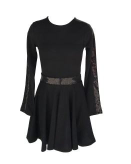 Jaimè vestido negro en crepé