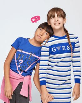 Catálogo Guess camiseta chica letras cristales varios colores