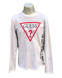 Guess camiseta chico manga larga letras laterales