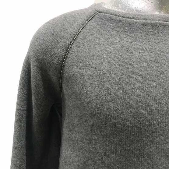 detalle Elsy jersey gris punto milano