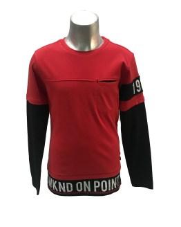 Cars Jeans camiseta roja con bolsillo