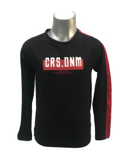 Cars Jeans camiseta negra y roja manga larga