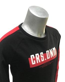 Detalle Cars Jeans camiseta negra y roja manga larga