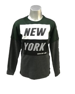 Cars Jeans camiseta gris y verde New York