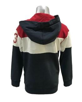 Espalda Petrol chaqueta tricolor con capucha