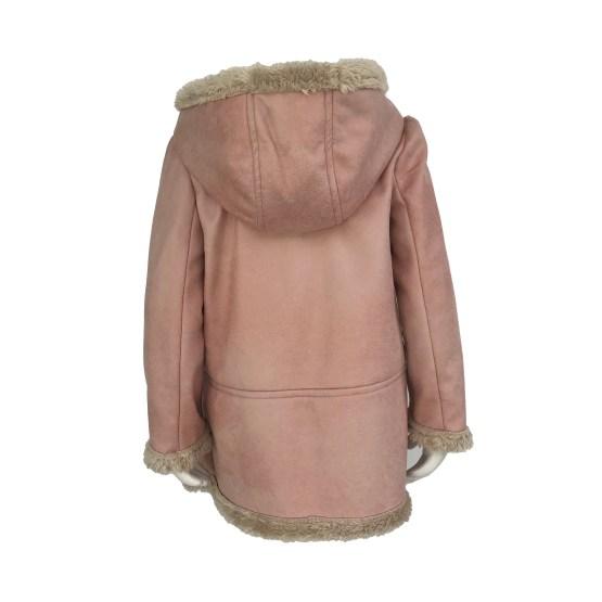 Jose Varon abrigo rosa piel vuelta y forro de pelo espalda