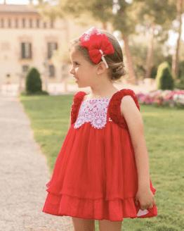 Dolce Petit vestido rojo vuelo catálogo