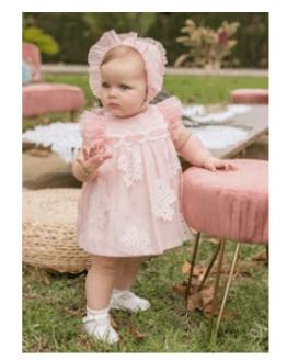 Catálogo Dolce Petit vestido y braguita tul con flores
