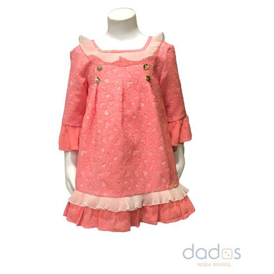 Dolce Petit vestido coral con corazones