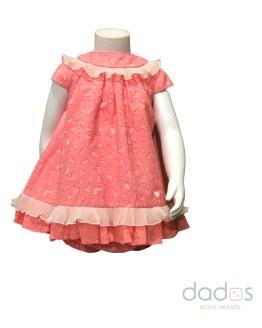 Dolce Petit vestido con braguita coral con corazones