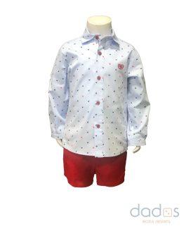 Dolce Petit conjunto niño pantalón y camisa monitos