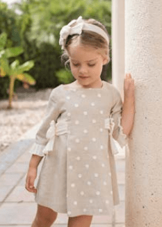 Dolce Petit vestido lunares y lazos catálogo