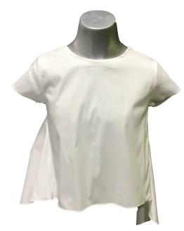Elsy blusa blanca largo irregular