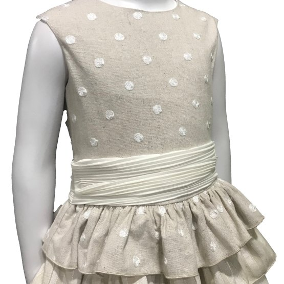 Detalle Dolce Petit vestido lunares espalda abierta