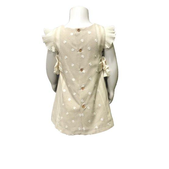 Espalda Dolce Petit vestido y braguita rayas y topos en relieve