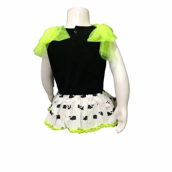 espalda Mon Petit Bonbon conjunto ballena falda y camiseta