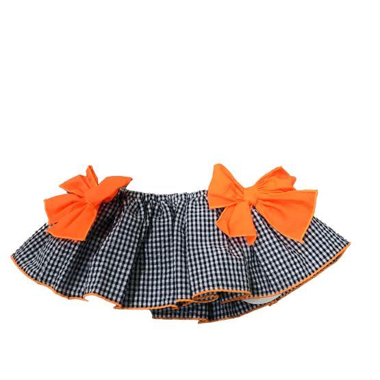 Falda Mon Petit Bonbon conjunto camiseta helado y braga vichy