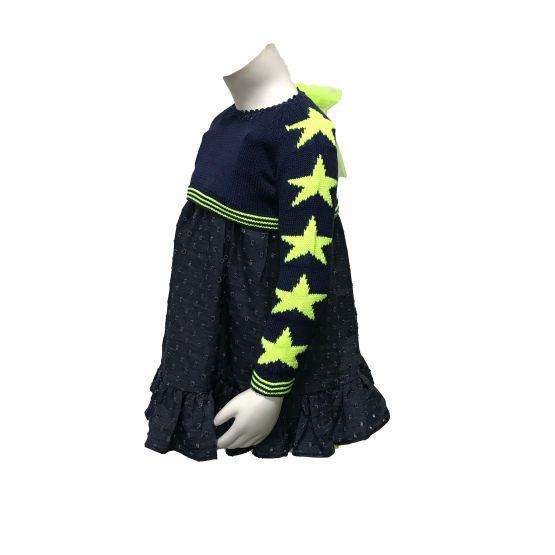 Propuesta look con jersey Lolittos colección Star vestido recto