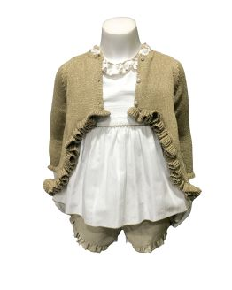Idea conjunto Lolittos colección Oro conjunto short y blusa