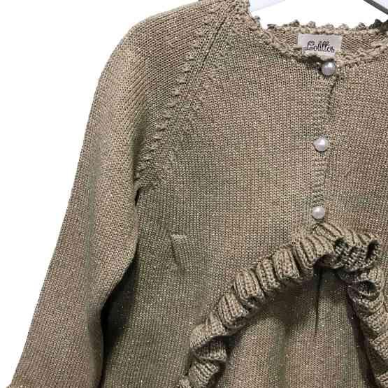 DETALLE Lolittos colección Oro chaqueta larga niña