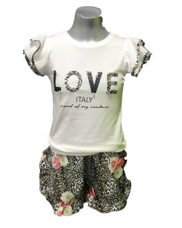 T-Love conjunto short flores y camiseta