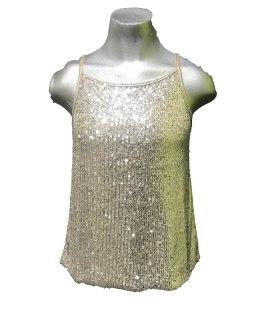 T-Love camiseta tirantes lentejuelas brillo