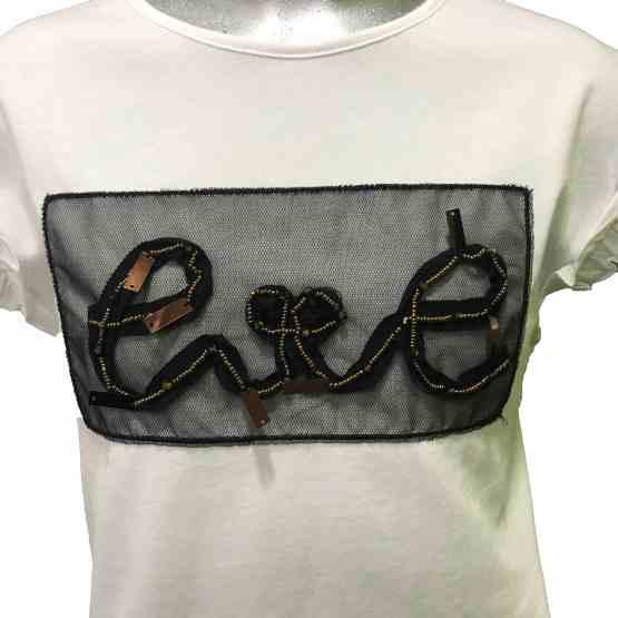 Detalle IDO camiseta chica blanca Love