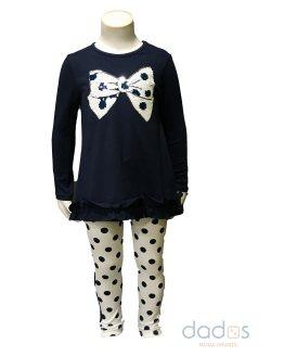 IDO conjunto legging lunares y camiseta lazo