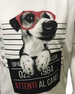 Detalle IDO camiseta estampado perro con gafas
