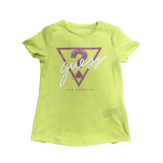 Guess camiseta chica logo triángulo lima