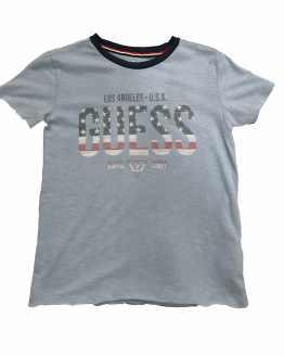 Guess camiseta chico celeste logo bandera