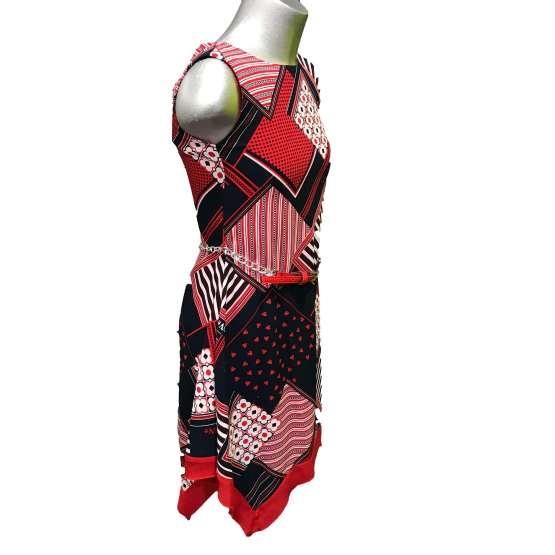 Sarabanda vestido estampado con cinturón vista lateral