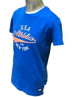 Vista lateral Cars Jeans camiseta Athletics azul