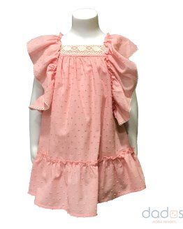 Coco Acqua vestido plumeti rosa