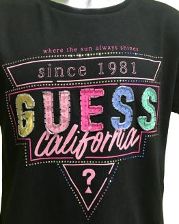 Detalle Guess camiseta chica California negra