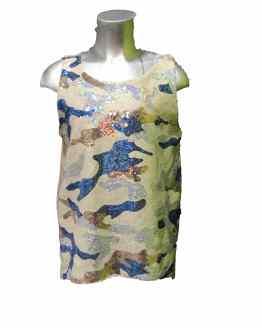 Jaimè blusa camuflaje de lentejuelas