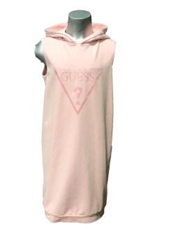 Guess vestido felpa con capucha rosa